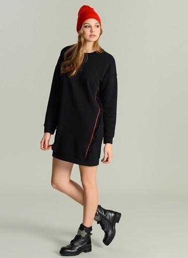Fırfır Detaylı Sweat Elbise-Agenda